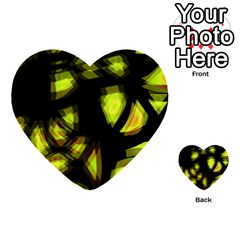 Yellow Light Multi Purpose Cards (heart)