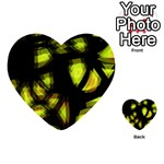 Yellow light Multi-purpose Cards (Heart)  Back 48