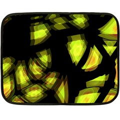 Yellow light Double Sided Fleece Blanket (Mini)