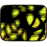 Yellow light Double Sided Fleece Blanket (Mini)  35 x27 Blanket Back