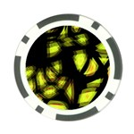Yellow light Poker Chip Card Guards (10 pack)  Back