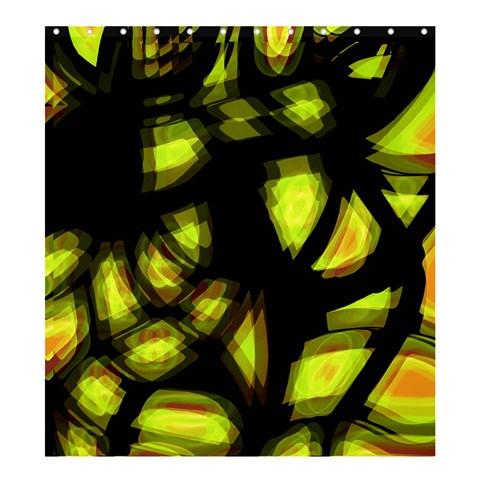 Yellow light Shower Curtain 66  x 72  (Large)