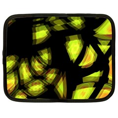 Yellow light Netbook Case (XL)