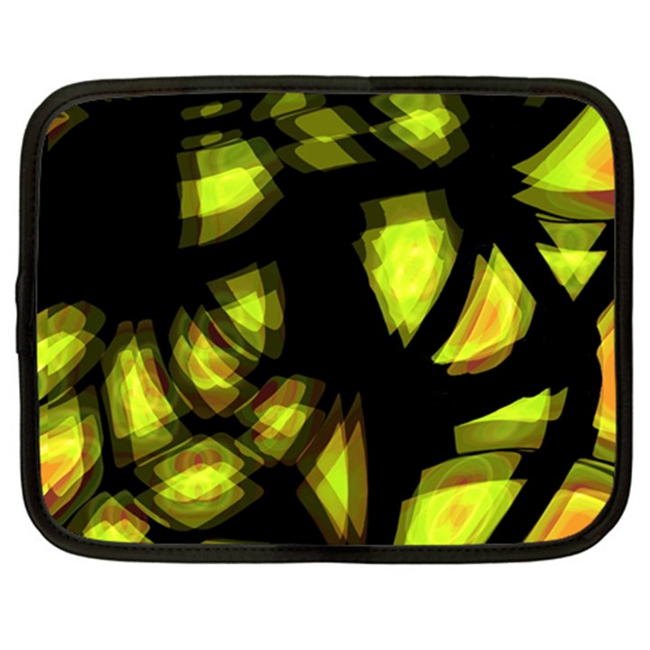 Yellow light Netbook Case (XXL)