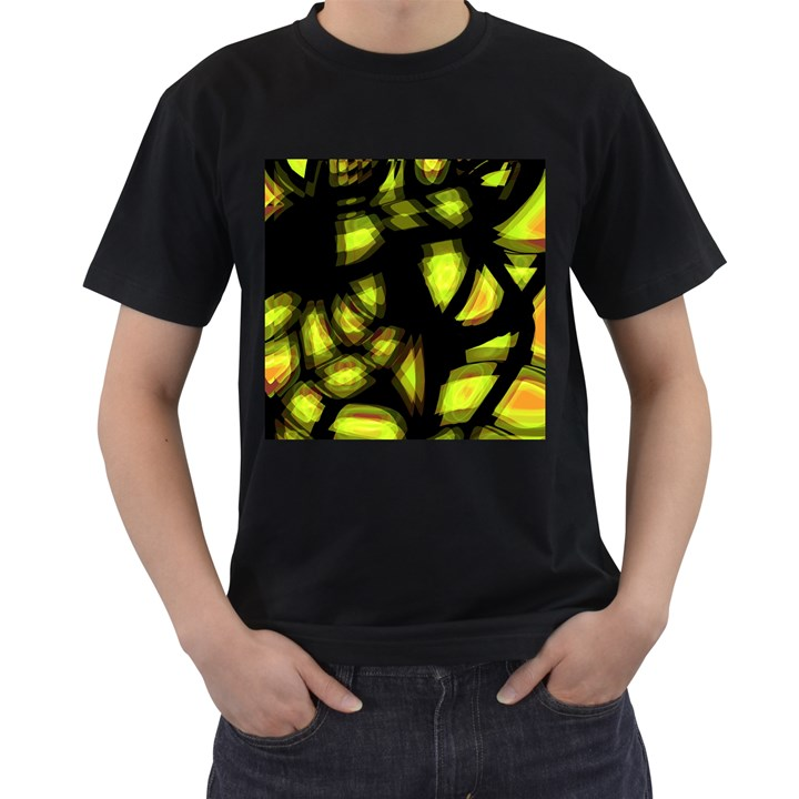 Yellow light Men s T-Shirt (Black)