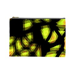 Yellow light Cosmetic Bag (Large)