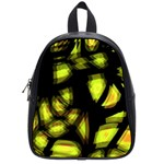 Yellow light School Bags (Small)  Front