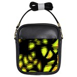 Yellow light Girls Sling Bags Front
