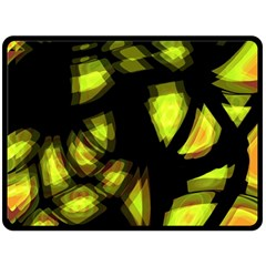 Yellow Light Fleece Blanket (large)
