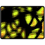 Yellow light Fleece Blanket (Large)  80 x60 Blanket Front
