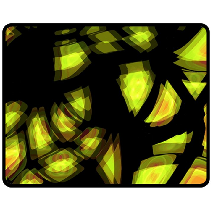 Yellow light Fleece Blanket (Medium)