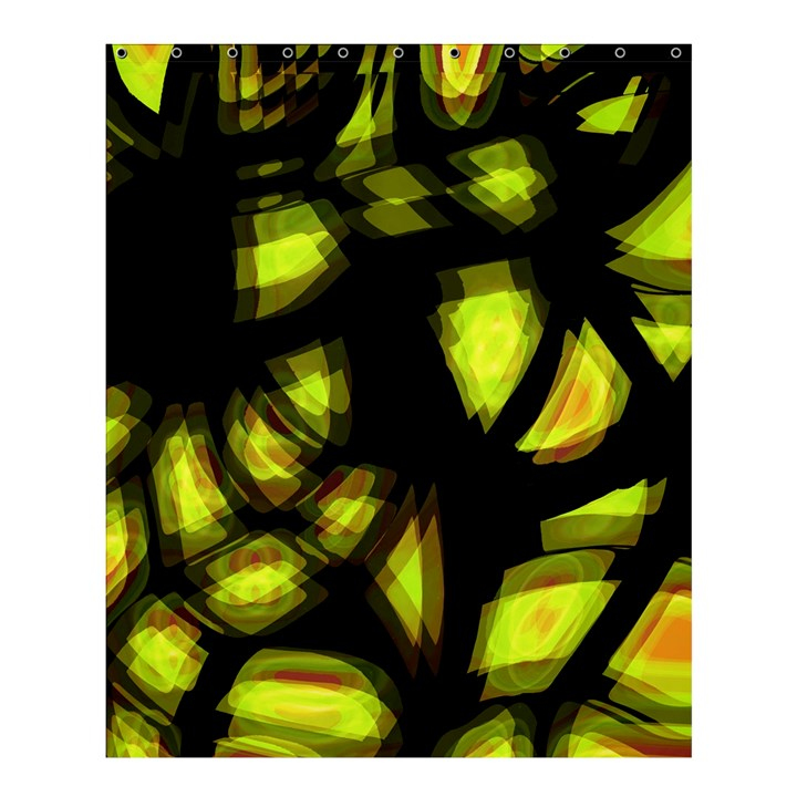 Yellow light Shower Curtain 60  x 72  (Medium)