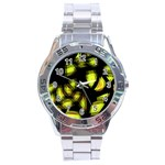 Yellow light Stainless Steel Analogue Watch Front