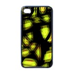 Yellow light Apple iPhone 4 Case (Black) Front