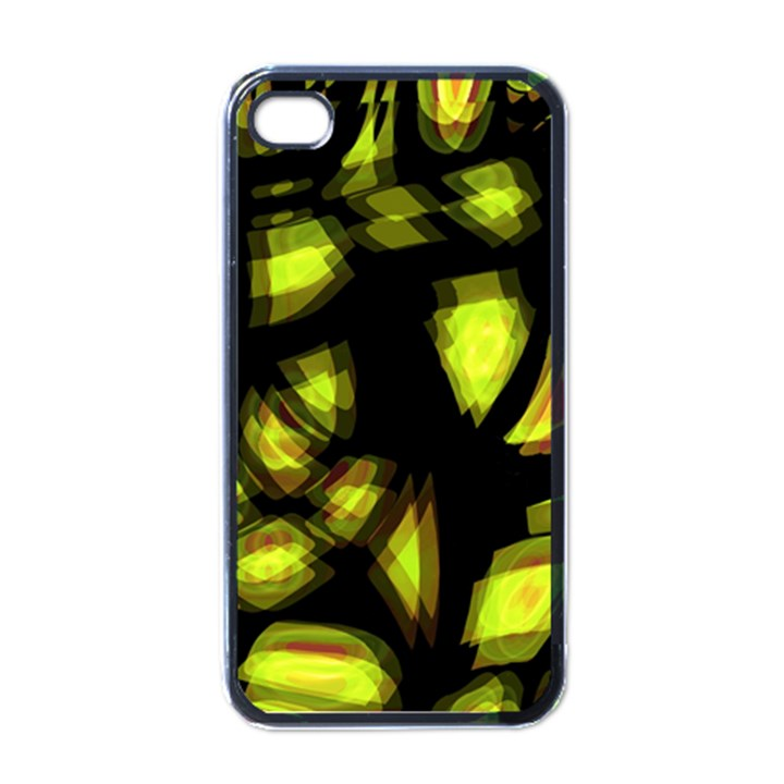 Yellow light Apple iPhone 4 Case (Black)