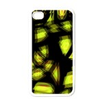Yellow light Apple iPhone 4 Case (White) Front