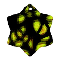 Yellow Light Snowflake Ornament (2 Side)