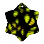 Yellow light Snowflake Ornament (2-Side) Front