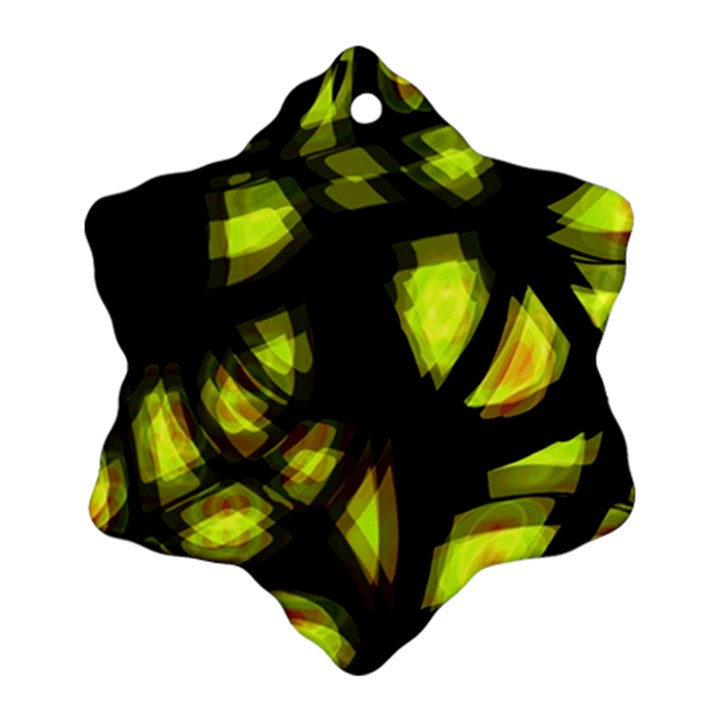 Yellow light Snowflake Ornament (2-Side)