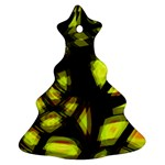 Yellow light Christmas Tree Ornament (2 Sides) Back