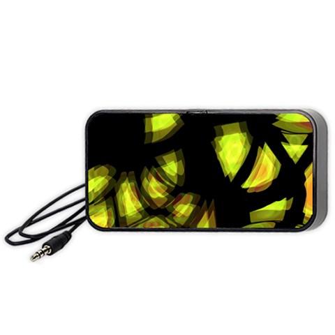 Yellow light Portable Speaker (Black)