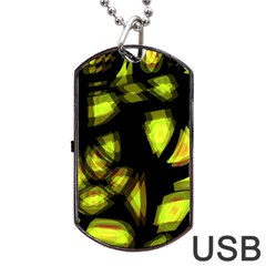 Yellow light Dog Tag USB Flash (One Side)