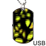 Yellow light Dog Tag USB Flash (One Side) Front