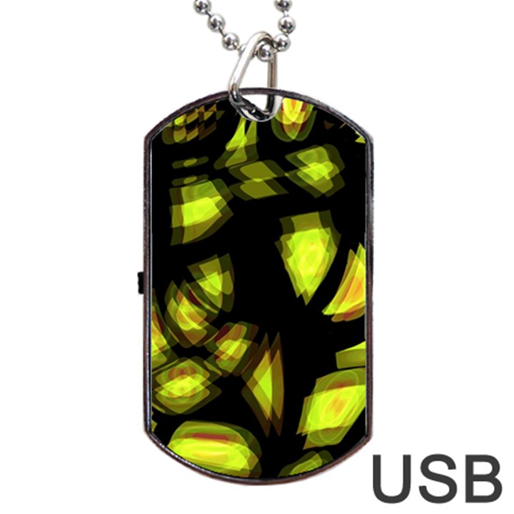 Yellow light Dog Tag USB Flash (Two Sides)