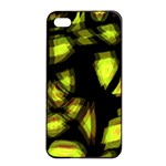 Yellow light Apple iPhone 4/4s Seamless Case (Black) Front
