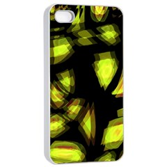 Yellow light Apple iPhone 4/4s Seamless Case (White)