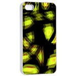 Yellow light Apple iPhone 4/4s Seamless Case (White) Front
