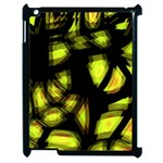 Yellow light Apple iPad 2 Case (Black) Front