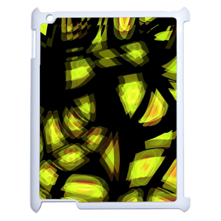 Yellow light Apple iPad 2 Case (White)