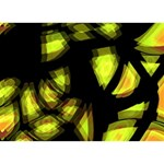 Yellow light I Love You 3D Greeting Card (7x5) Back