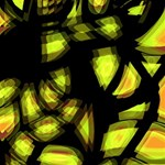 Yellow light SORRY 3D Greeting Card (8x4) Inside