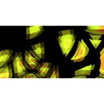 Yellow light Merry Xmas 3D Greeting Card (8x4) Front