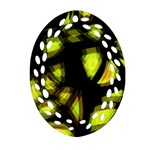 Yellow light Oval Filigree Ornament (2-Side)  Front