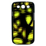 Yellow light Samsung Galaxy S III Case (Black) Front