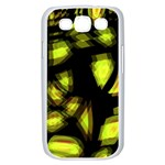 Yellow light Samsung Galaxy S III Case (White) Front