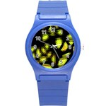 Yellow light Round Plastic Sport Watch (S) Front
