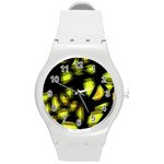 Yellow light Round Plastic Sport Watch (M) Front