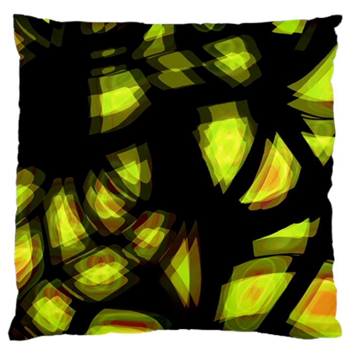 Yellow light Large Cushion Case (One Side)