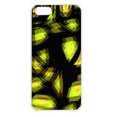 Yellow light Apple iPhone 5 Seamless Case (White)