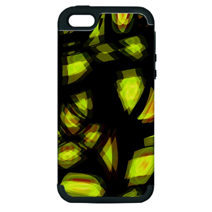 Yellow light Apple iPhone 5 Hardshell Case (PC+Silicone)