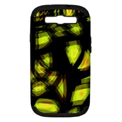 Yellow light Samsung Galaxy S III Hardshell Case (PC+Silicone)
