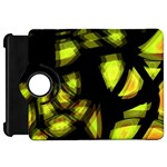 Yellow light Kindle Fire HD Flip 360 Case Front