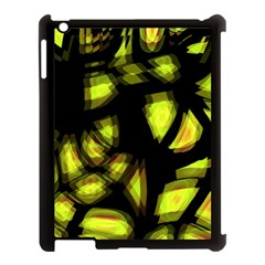 Yellow light Apple iPad 3/4 Case (Black)