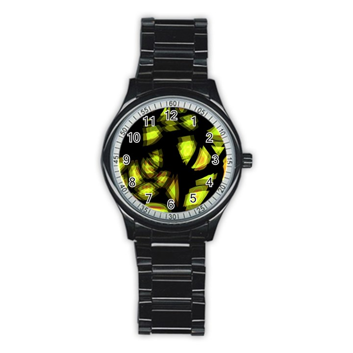 Yellow light Stainless Steel Round Watch