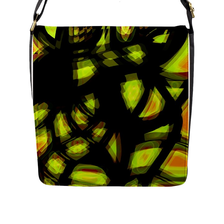 Yellow light Flap Messenger Bag (L)