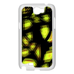 Yellow light Samsung Galaxy Note 2 Case (White)